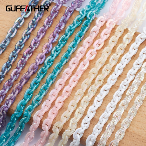 GUFEATHER C107,jewelry accessories,diy chain,plastic material,hand made,charms,diy bracelet necklace,jewelry making,1m/lot