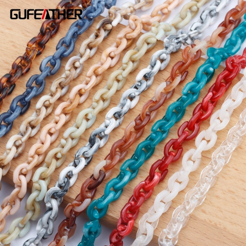 GUFEATHER C108,jewelry accessories,diy chain,plastic material,hand made,charms,jewelry making,diy bracelet necklace,1m/lot