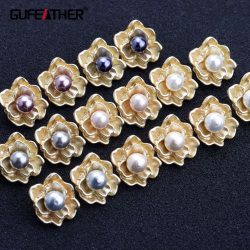 GUFEATHER M448,jewelry accessories,silver needle,prevent allergy,copper metal,cotton pearl,diy earring,jewelry making,10pcs/lot