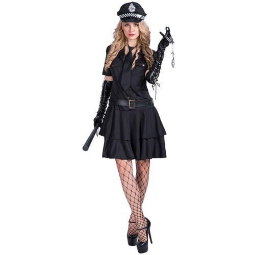 Women Sexy Police Officer Costume Policewoman Cop Uniform Dress ...