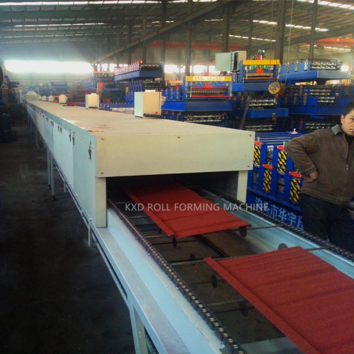 stone coated roofing production line