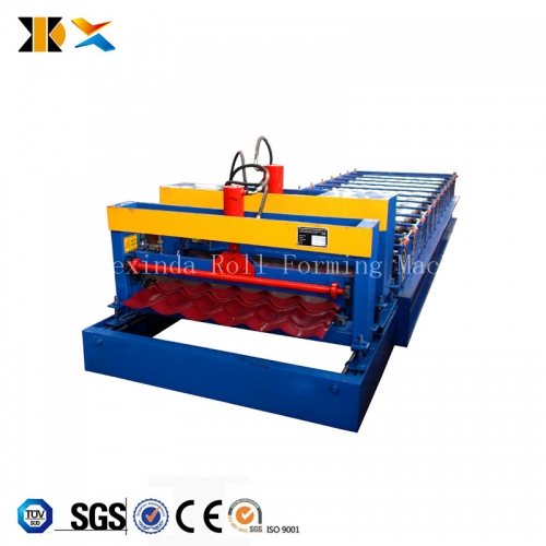 Russia profile 1035 metal glazed roof sheet steel profile cold forming machine glazed tile making machine equipment