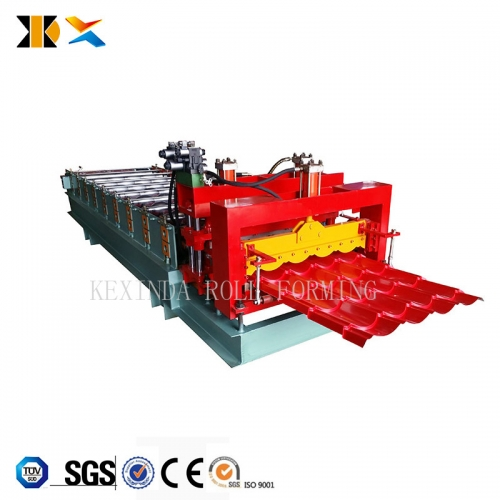 Glazed Tile Roofing Tile Galvanized Iron Sheet Machine Maker