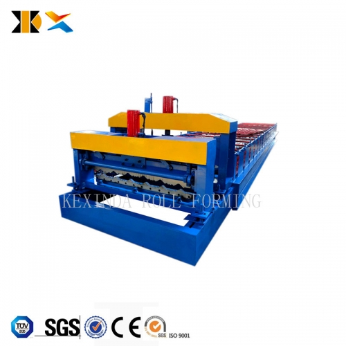 Shopkeeper prefab house metal roofing glazed wall tile cover roll forming machine for making glaze tile machine
