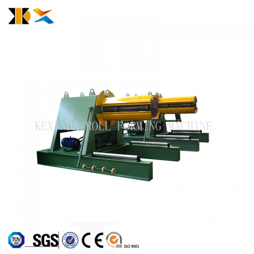 hydraulic duct decoiling machine
