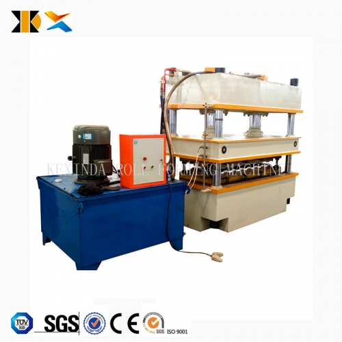 Color Stone sand blasting coated line roofing sheet roll forming machine