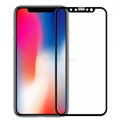 For iPhone X Tempered Glass Screen Protector 5D Full Cover Black