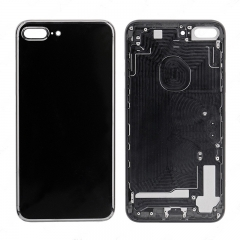 For iPhone 7 Plus Battery Housing Back Cover Rear Frame With Side Buttons And SIM Tray - Jet Black