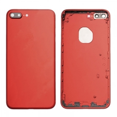 For iPhone 7 Plus Battery Housing Back Cover Rear Frame With Side Buttons And SIM Tray - Red