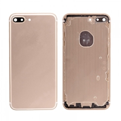 For iPhone 7 Plus Battery Housing Back Cover Rear Frame With Side Buttons And SIM Tray - Gold