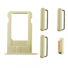 For iPhone 6 Plus Side Buttons & SIM Card Tray - Gold