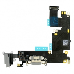 For iPhone 6 Plus Headphone & Dock Charging Connector Flex Cable - Dark Grey