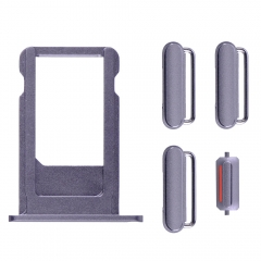 "For iPhone 6S Plus 5.5"" Side Buttons Set With SIM Tray - Grey"