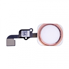 "For iPhone 6S 4.7"" Home Button With Flex Assembly - Rose"