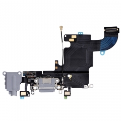 "For iPhone 6S 4.7"" Headphone Jack With Lightning Connector Flex Cable - Dark Grey"