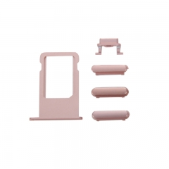 For iPhone 6S Side Buttons With SIM Card Tray Set - Rose Gold