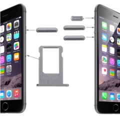 For iPhone 6 Side Buttons Set With SIM Card Tray - Grey