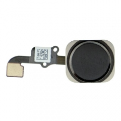 For iPhone 6 Home Button With Flex Cable Assembly - Black