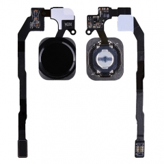 For iPhone 5S / iPhone SE Home Button With Flex Cable Ribbon - Black