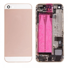 For iPhone SE Back Housing Full Assembly With Small Parts - Rose Gold