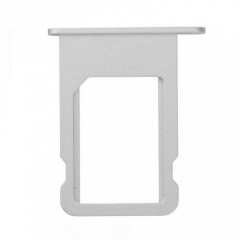 For iPhone 5S SIM Card Tray Holder - Silver - 10PCS/Pack