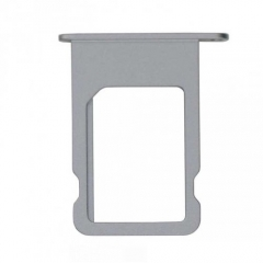 For iPhone 5S SIM Card Tray Holder - Grey - 10PCS/Pack
