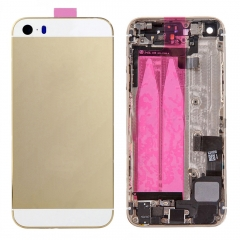 For iPhone SE Back Housing Full Assembly With Small Parts - Gold