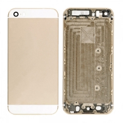For iPhone SE Back Housing With Side Buttons And SIM Tray - Gold