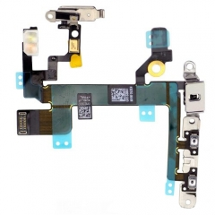 For iPhone 5S Power ON/OFF Control Flex Cable Assembly With Metal Plate (821-1594-08)