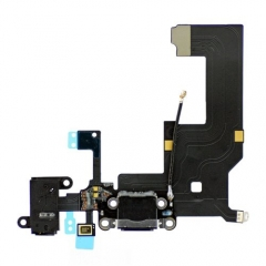 For iPhone 5 Dock Connector Charging Port And Headphone Jack Flex Cable - Black (821-1699-A)