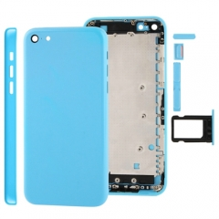 For iPhone 5C Back Cover Battery Housing With Side Buttons and SIM Tray - Blue