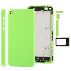 For iPhone 5C Back Cover Battery Housing With Side Buttons and SIM Tray - Green