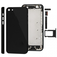 For iPhone 5C Back Cover Housing Assembly - Black AAA