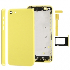 For iPhone 5C Back Cover Battery Housing With Side Buttons and SIM Tray - Yellow