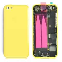 For iPhone 5C Back Battery Housing With Small Parts Assembly - Yellow
