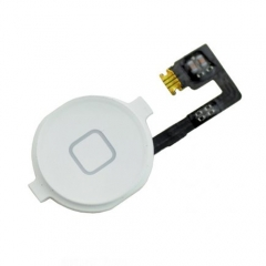 For iPhone 4 Home Button With Flex Cable Assembly - White