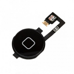 For iPhone 4 Home Button With Flex Cable Assembly - Black