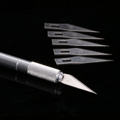 Cutting Knife with 6 pcs Blade Scraping Cutter Drawing Knife