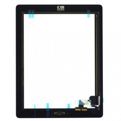 For iPad 2 Touch Panel Digitizer With Home Button And Adhesive Assembly Original - Black