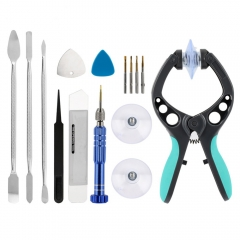 13 in 1 Cellphone LCD Screen Opening Pliers Metal Pry Spudger Kit