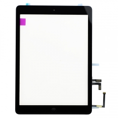 For iPad Air / 5Gen Touch Screen Digitizer With Adhesive And Home Button Assembly Original- Black