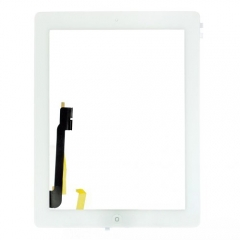 For iPad 4 Touch Screen Digitizer With Home Button Flex And Adhesive Assembly Original White