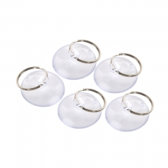 5Pcs Light Duty Small Suction Cup with Metal Key Ring