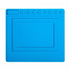 240x220 BGA PCB Repair Work Pad Silicone Mat Heat Insulation Maintenance Platform with Circuit Board IC Chip Location