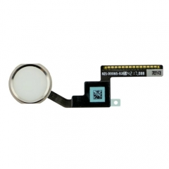 For iPad Mini 3 Home Button With Flex Cable - Silver