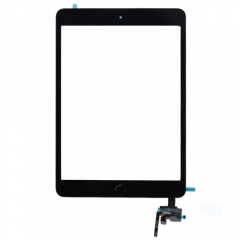 For iPad Mini 3 Touch Screen Digitizer With Home Button+IC+Adhesive Assembly Original - Black
