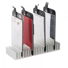 Aluminum Metal LCD PCB Holder Tray Slots