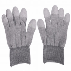 ESD Safe Gloves Anti-static Anti-skid PU Finger Top Coated