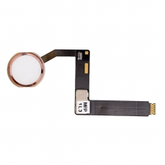 "For iPad Pro 9.7"" Home Button Assembly with Flex Cable Ribbon - Rose"