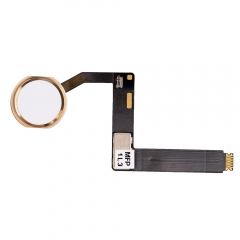 "For iPad Pro 9.7"" Home Button Assembly with Flex Cable Ribbon - Gold"